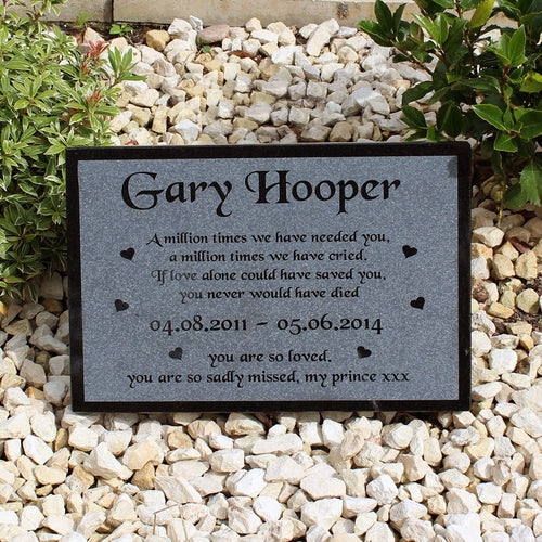 Granite Text Pet Memorial Range Style 2