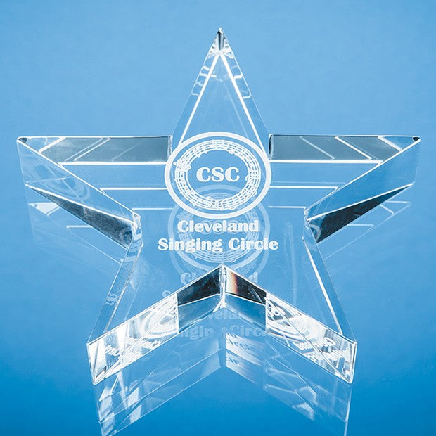Personalised Optical Crystal Star Paperweight
