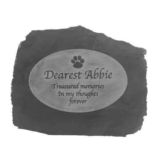 Natural Slate Pet Memorial Range Style 2
