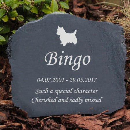 Natural Slate Text Pet Memorial Range