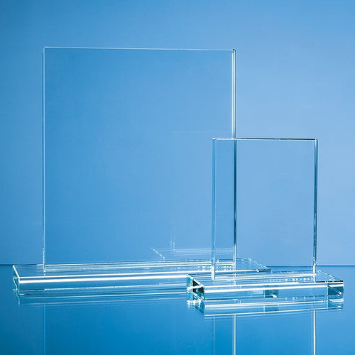 Engraved 20 cm Clear Glass Rectangle Award