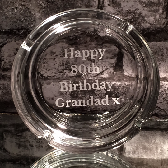 Personalised  Glass Ashtray