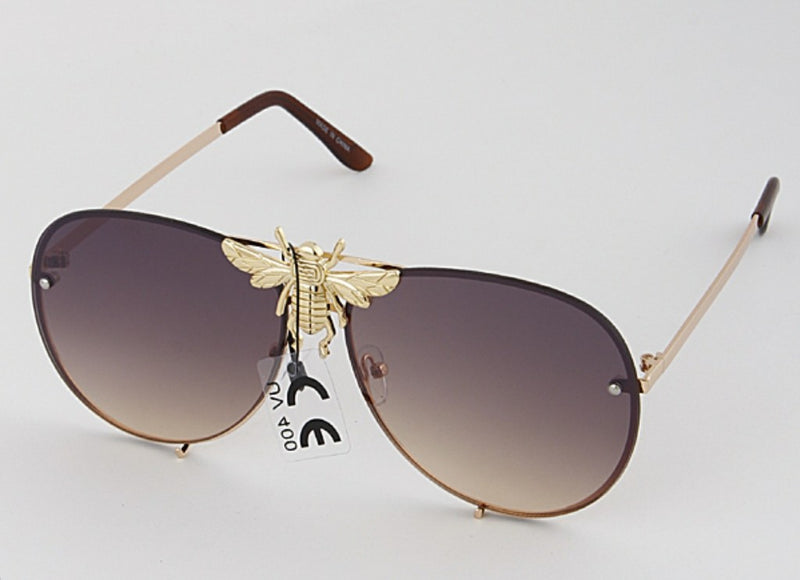 Queen Bee Aviator Sunglasses