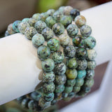 African Turquoise faceted 8mm beaded bracelet