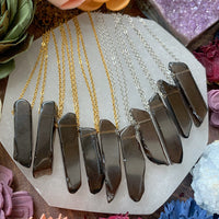 Smoky Quartz Bar Necklace