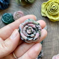 Rose Carved Gemstone (Choose Stone)