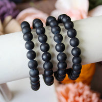 Black Agate 8mm beaded bracelet