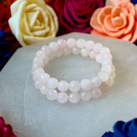 Rose Quartz faceted 8mm beaded bracelet