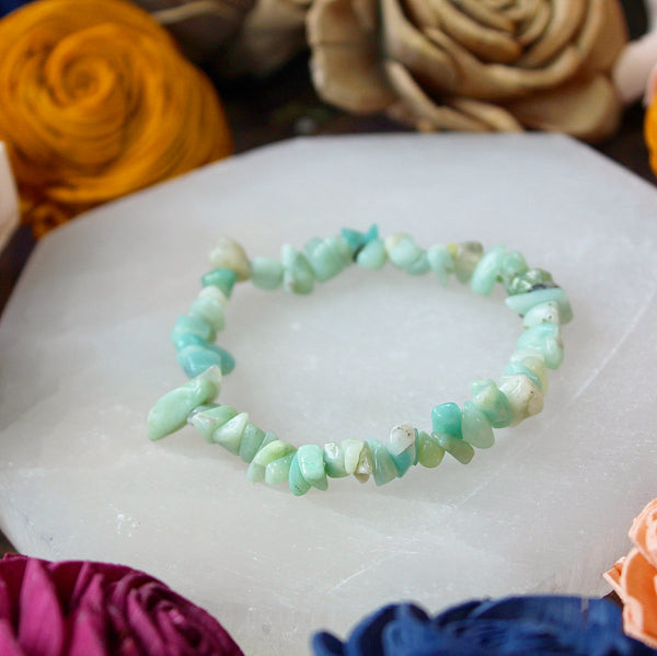 Amazonite Chip Bead Bracelet