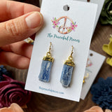 Blue Kyanite Dangling Earrings