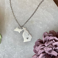 Michigan State Charm Necklace