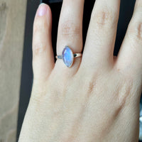 Moonstone Ring Size 7.25