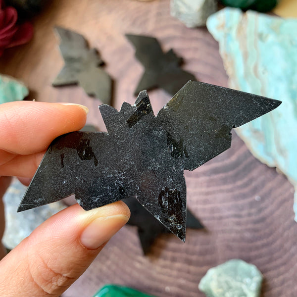 Black Tourmaline Bat