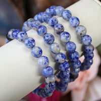 Sodalite faceted 8mm beaded bracelet