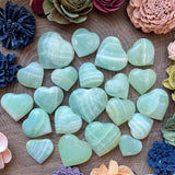 Pistachio Green Calcite Heart