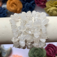 Clear Quartz Chip Bead Bracelet