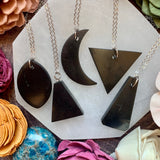 Shungite Pendant Necklace - Choose Style