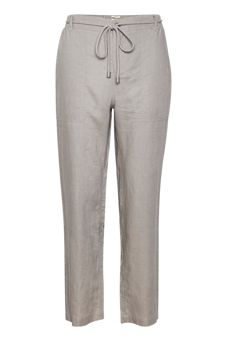 Part Two Harena Linen Grey Trousers