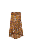 Tammy Midi Skirt- rust flower