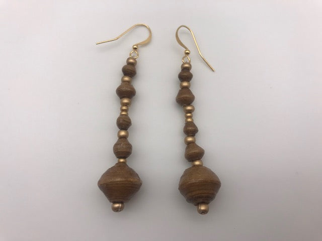 Paperchain Tan Earrings