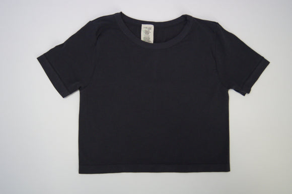 Bamboo basic one size short sleeve crop tshirt