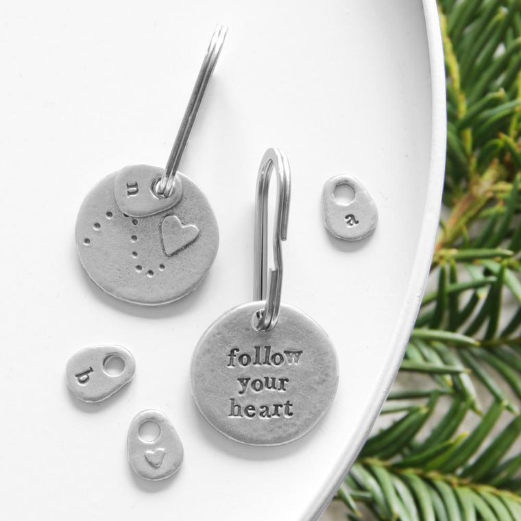 Follow your heart keyring