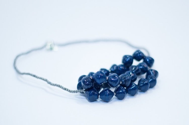 Paperchain Opio necklace navy