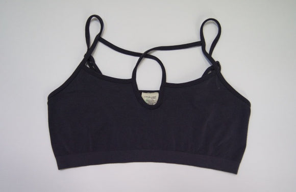 Bamboo basic one size crossover strap bralette