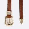 Rosette Belt Brown