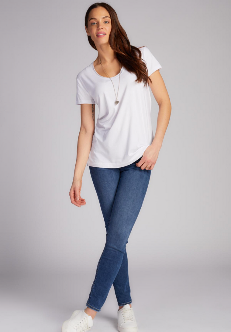 Bamboo scoop neck relaxed tee