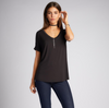 Bamboo v neck relaxed tee
