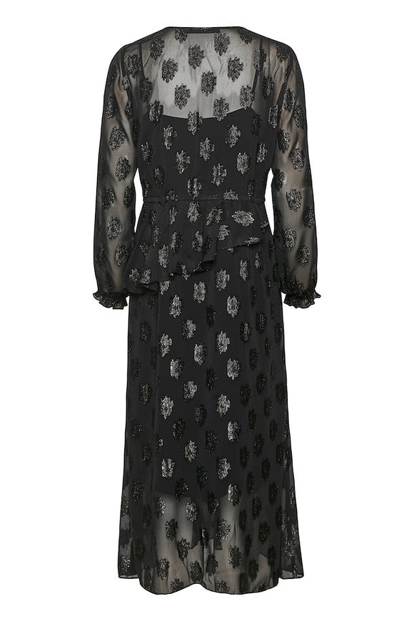 KAREN BY SIMONSEN METERORITE BLACK DRESS