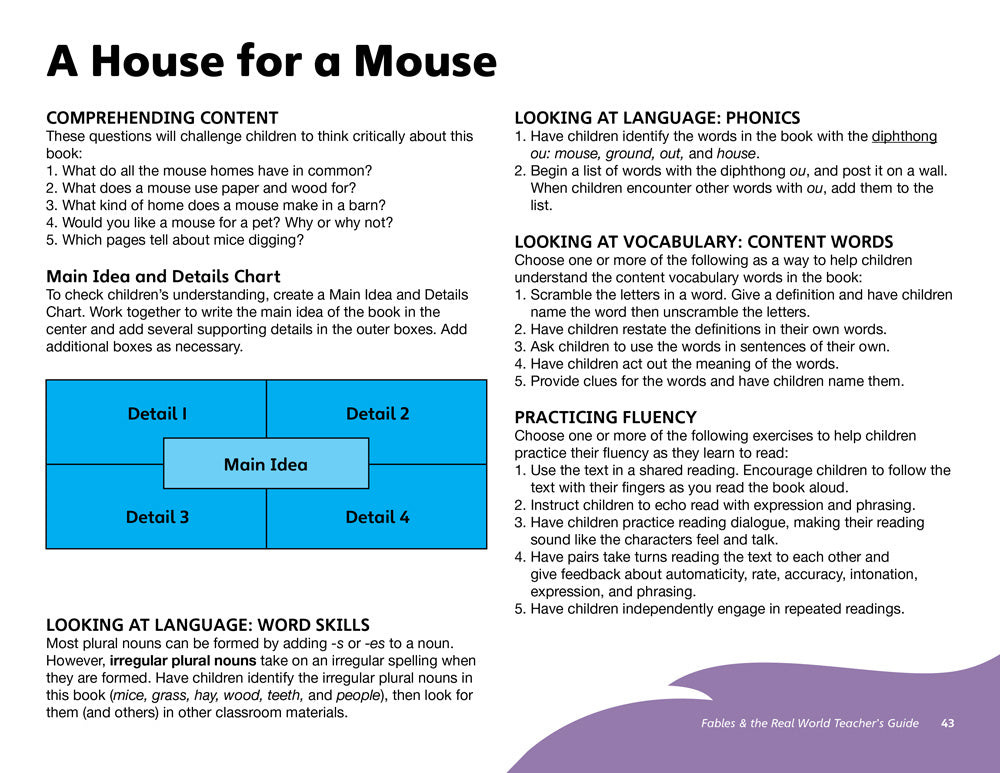 A House for a Mouse Teacher's Guide