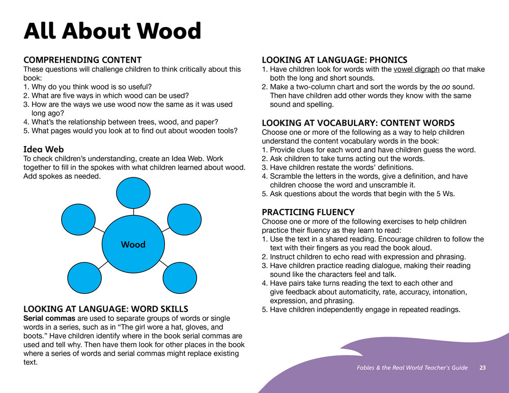 All About Wood Teacher's Guide