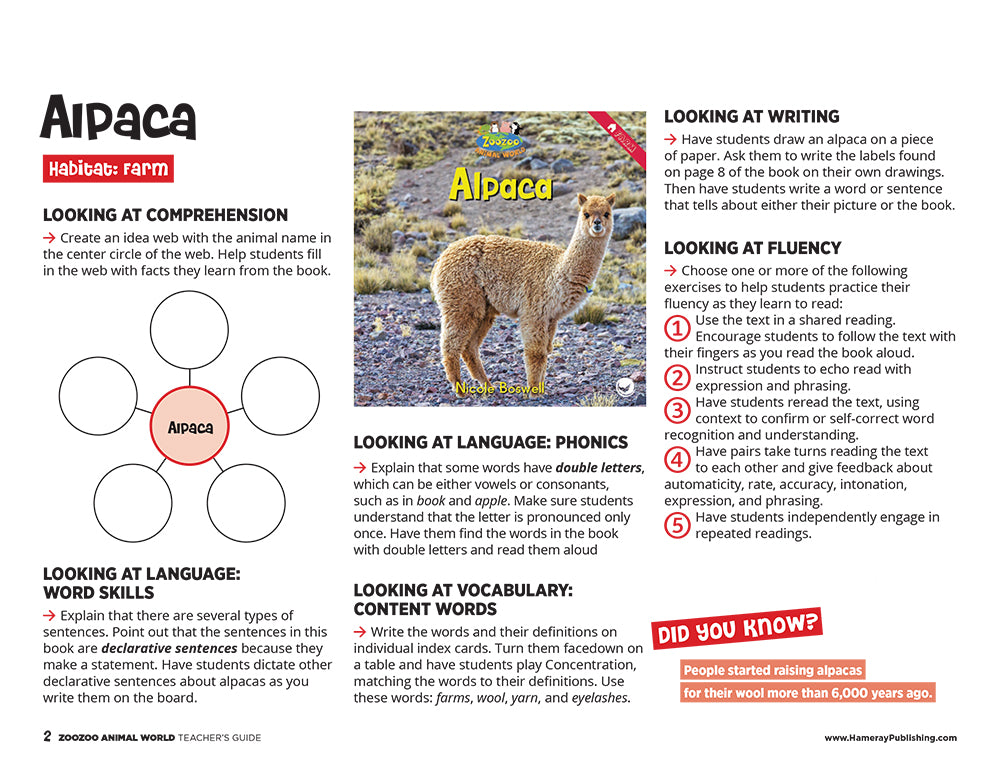 Alpaca Teacher's Guide