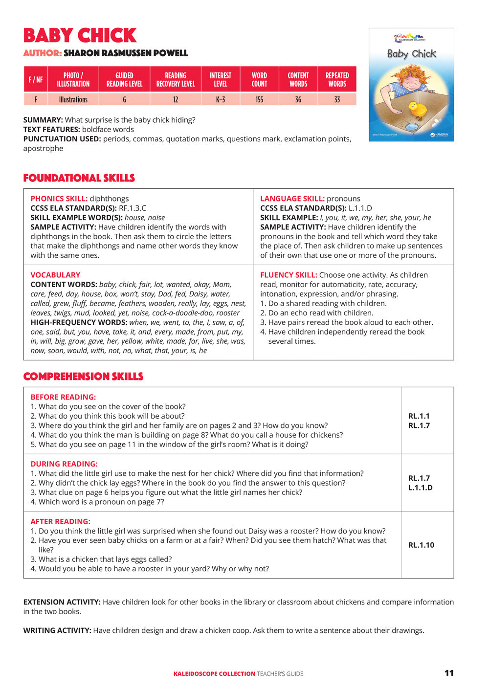 Baby Chick Teacher's Guide
