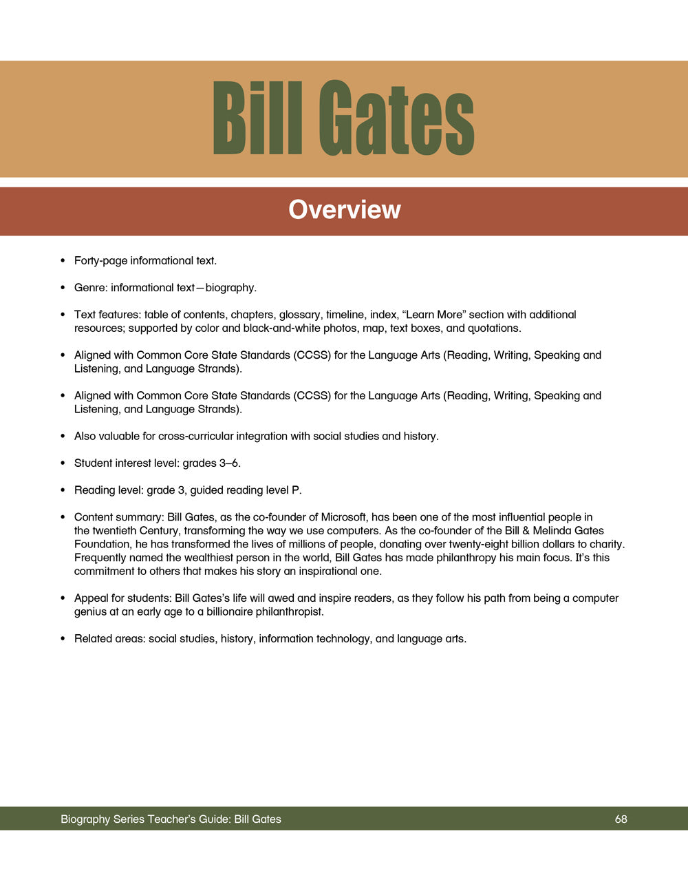 Bill Gates Teacher's Guide