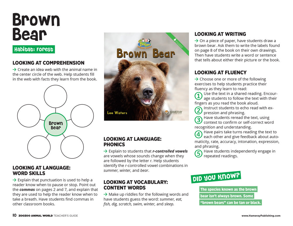 Brown Bear Teacher's Guide