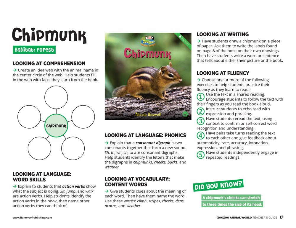 Chipmunk Teacher's Guide
