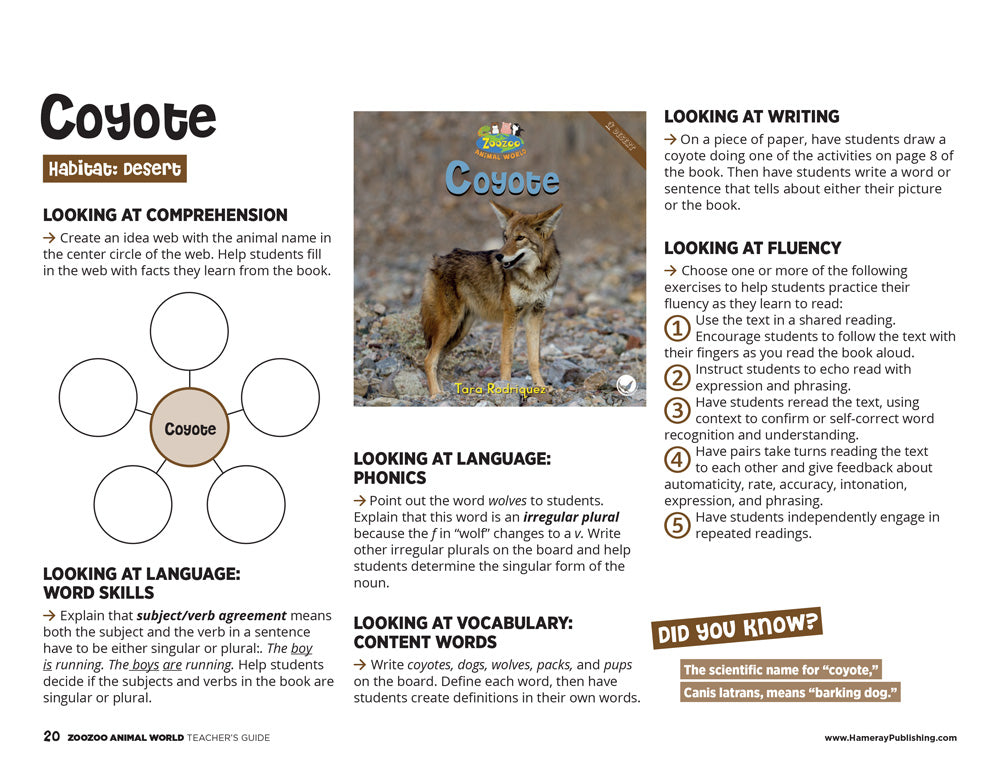 Coyote Teacher's Guide