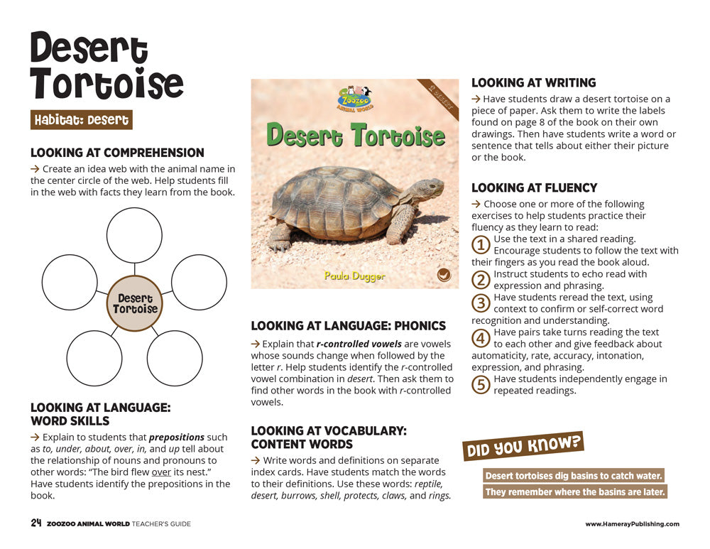 Desert Tortoise Teacher's Guide