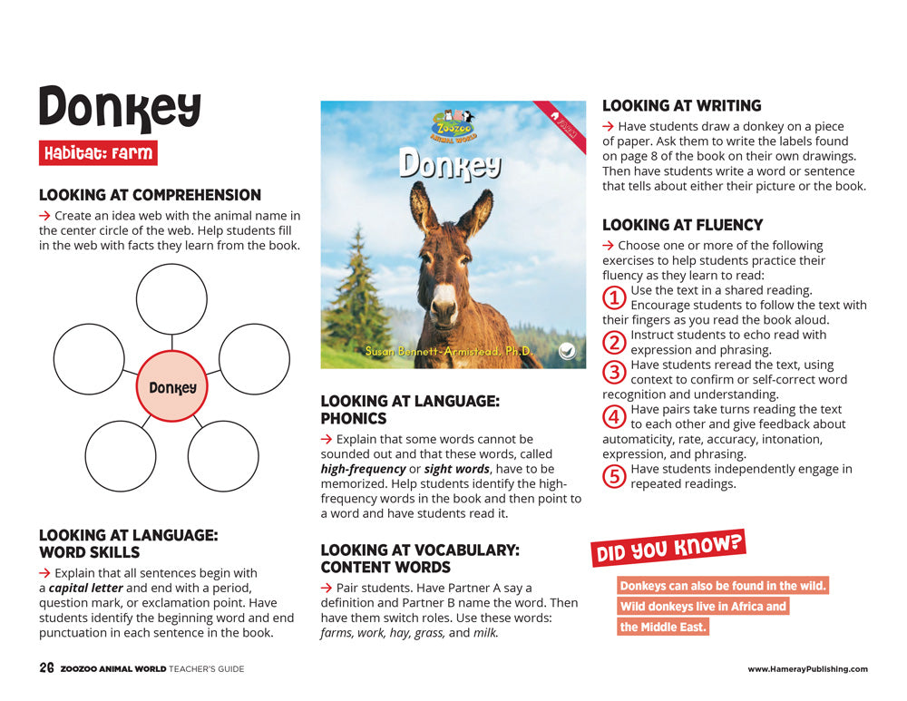 Donkey Teacher's Guide