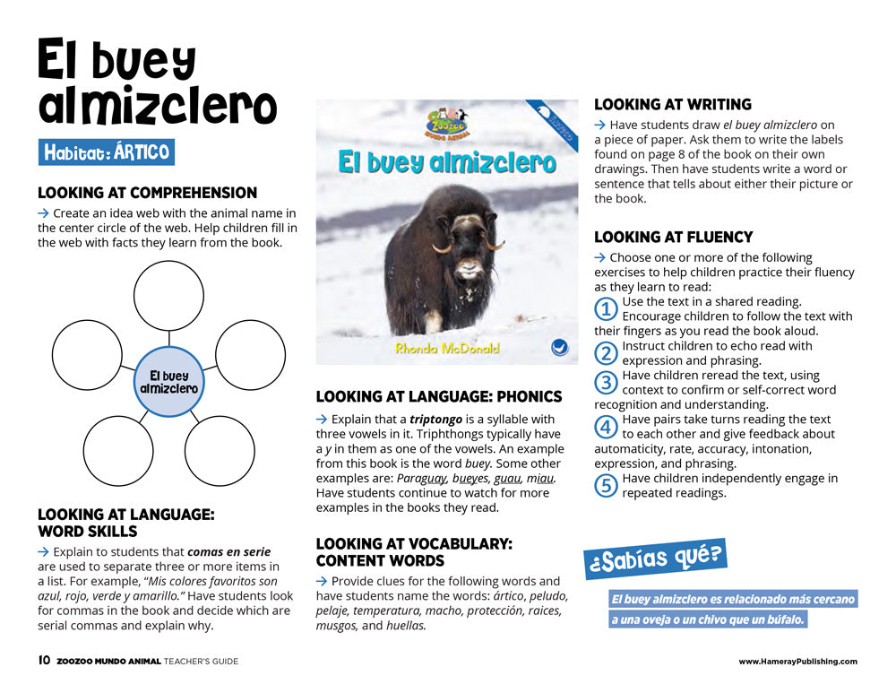 El buey almizclero Teacher's Guide