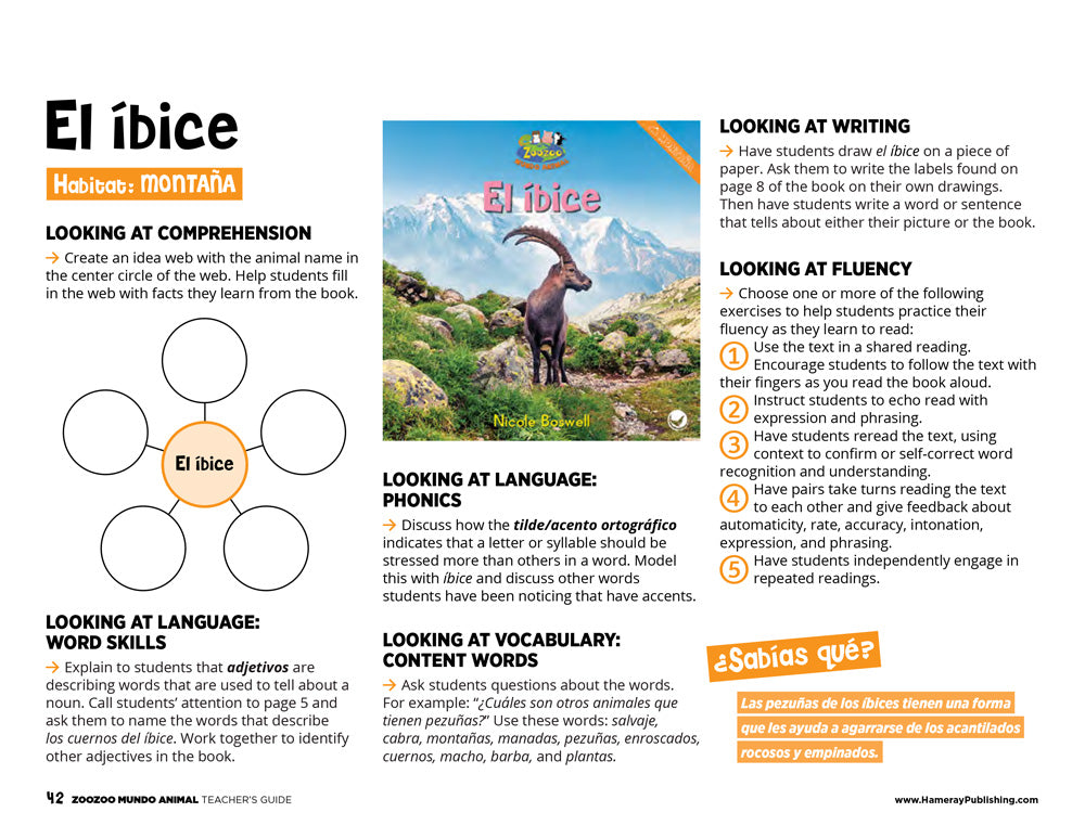 El íbice Teacher's Guide