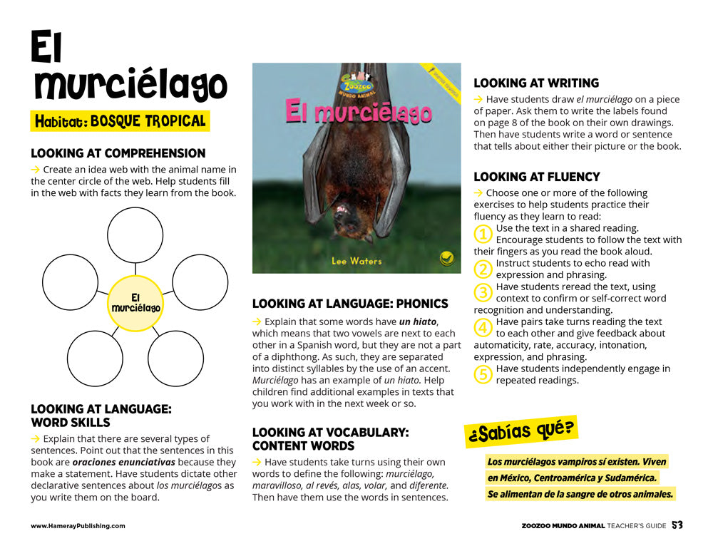 El murciélago Teacher's Guide