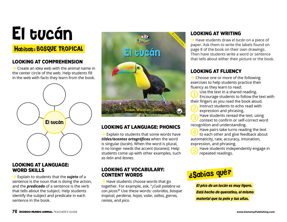 El tucán Teacher's Guide