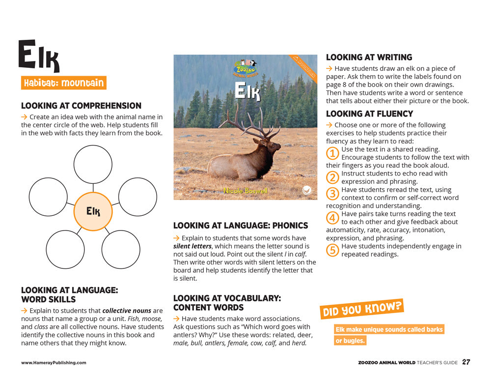 Elk Teacher's Guide