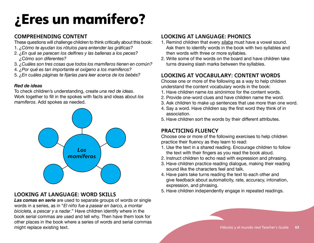 ¿Eres un mamífero? Teacher's Guide