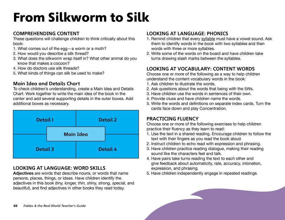 From Silkworm to Silk Teacher's Guide
