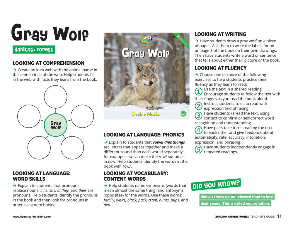 Gray Wolf Teacher's Guide